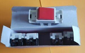 5 x Eaton MEM Delta Spectra - 8021 RR 20a Double Pole Grid Switch Red Rocker