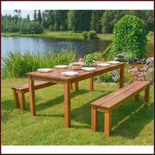Set Tavolo e Panche da Pic Nic Tavolino in Legno per Giardino Campeggio Esterno