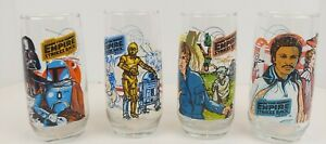 VTG Star Wars Empire Strikes Back Set of 4 Glasses 1980 Burger King Coca Cola