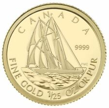 2012 Canada 50 Cents Bluenose 1/25 Ounce Pure Gold Coin - Mint in Case