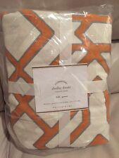 1 Pottery Barn Shelby Duvet Cover Clementine Full Queen F Q Orange New