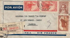 Lettre/Cover Argentina Air France Registered 1930