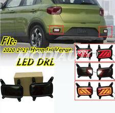 For 2020-21 Hyundai Venue LED DRL Rear Bumper Lamp Led Brake Ligh Signal lamp 2X