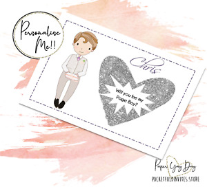 Personalised Page Boy Proposal Card SCRATCH & REVEAL Hidden Message Card Usher