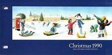 ISOLA di Man presentazione Pack 1990 NATALE SNOW Fun & Games Stamp Set