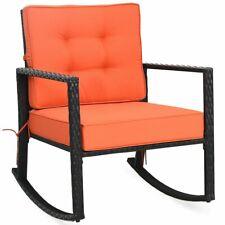 Wicker Rocking Chair Outdoor Glider Rattan Rocker Chair