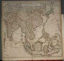EAST INDIES CHINA SOUTHEASTERN ASIA INDIA KOREA JAPAN 1705 DE L'ISLE ANTIQUE MAP