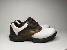 New listing Footjoy Leather Golf Shoes, Flexzone 45402, 8.5W, White and Brown Saddle.
