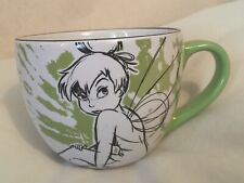Disney Store Collectible Tinkerbell Sketch Large Coffee Mug Tink