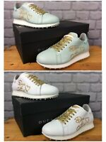 DUCA DEL COSMA LADIES UK 4 EU 37 MINT WHITE GOLD SPIKELESS GOLF SHOES RRP £189