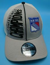 NEW YORK RANGERS 2014 STANLEY CUP FINALS fitted hat gray / white cap - One Size