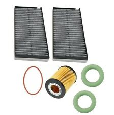 Tune Up Kit Filters Engine & Cabin & O-Rings Premium For BMW E60 530i 525i 04-05