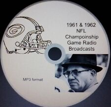 1961 & 1962 Green Bay Packers NFL Title Game radio broadcasts in MP3 Format