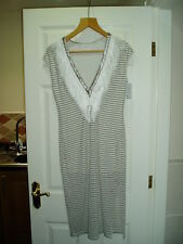 NEW Ladies Designer IXIAH Size 14 UK Striped Dress With Lining RRP £39.99