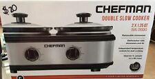 Chefman Double Slow Cooker  2 x 1.25 qrt  NEW IN BOX