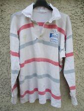 Maillot rugby A.S.C ASSEMBLÉE NATIONALE vintage shirt années 80 coton L