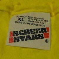 Vintage 80's ROYAL CARIBBEAN Ocean Cruise Ship Screen Stars Yellow T Shirt Large