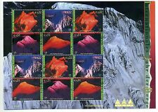UN Vienna 2002 Year of the Mountains minisheet used