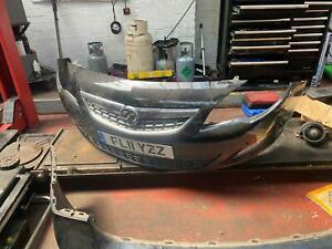VAUXHALL ASTRA J 2011 COMPLETE FRONT BUMPER WITH SENSORS - COLOUR CODE-Z20R