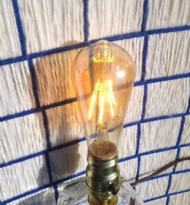 new LED 6w AMBER Light bulb = 60w Vintage dimmable 200 EXTRAS SHIP for 7¢* SALE