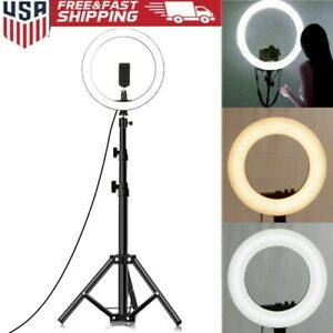 LED Ring Light 6500K Dimmable Lamp Photography Camera Phone Video Studio Photo