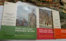 """3 """"Prose and Poetry Enrichment Records"""" albums, 2 LPs/alb, Jason Robards.., VG++"""