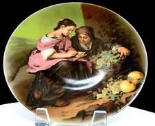 "WUNSIEDEL BAVARIA PAUL TAUBERT FRUIT SELLERS 9 5/8"" COLLECTOR PLATE 1982"