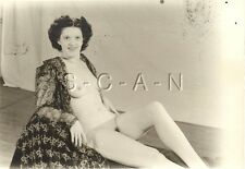 Org Vintage 1940s-60s Nude (7 x 5.0) RP- Detroit- Artistic- Woman in Open Top