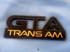 1987-1990-Trans-Am-GTA-Front-Fender-Emblem USED Vintage-Pontiac Trans-AM