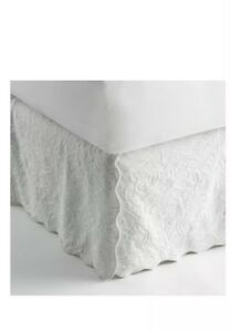 """Royal Velvet Coralie Twin Bedskirt 39""""x75"""" With 15"""" Drop Lenght Cool White"""