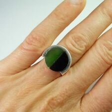 Ring Jade Sterling Silver Vintage & Antique Jewellery