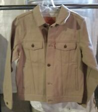 New! Boys Size L Large 12-13 Levi's Trucker KHAKI Denim Jacket - MSRP $58