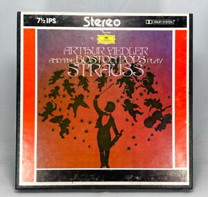 Arthur Fiedler And The Boston Pops Play Strauss Reel to Reel Tape 7.5 IPS Dolby