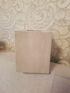 Faux grey shagreen Tissue Box