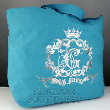 New Stylish 100% Original Handbag GUESS Satchel Crest Ladies Turq Bag