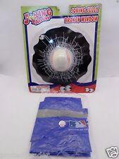 "2 Piece Baseball Lot 39"" Inflatable New York Mets Bat W/ 3D Broken Window Gag"
