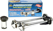 Wolo Powerhouse Chrome Metal Dual Trumpet Roof Mount Air Horn Kit WOL418