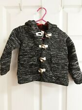 Carter's Infant Black & Grey Jacket W/Black & Red Buffalo Check Hood Size 12 Mos