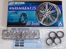 "Aoshima 1/24 WORK VARIANZA F25  20"" Wheel Rims & Tire Set for Models 5383 (50)"