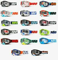 100% RACECRAFT Goggles -ALL COLORS- Offroad MX Motocross - CLEAR LENS