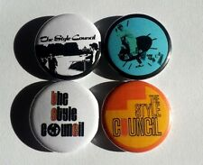 "4 x The Style Council 1"" Pin Button Badges (paul weller the jam new wave music )"