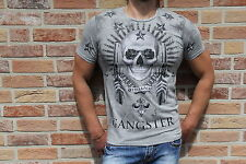 Blackrock Herrenshirt Skull Totenkopf Strass grau *NEU* Gr. M