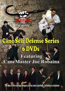 Cane Martial Arts Self Defense Series 6 Instructional DVDs