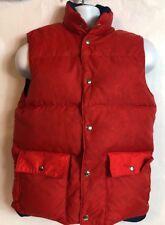 Vintage Reversible Down Vest Red/Navy Swan Brand Snap Closure Men's size S(28)
