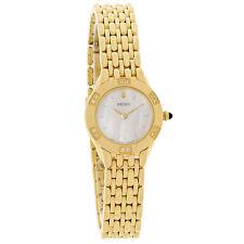 Seiko Diamond Ladies MOP Gold Tone Bracelet Quartz Watch SUJC44