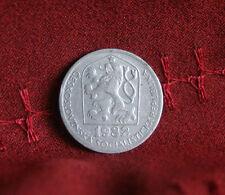 1982 Czechoslovakia 50 Haleru World Coin KM89 Czech Lion Star Socialist Shield