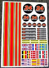 RC Le Mans autocollants stickers associés HPI Tamiya Kyosho