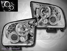 05-09 FORD MUSTANG CCFL TWIN HALO CHROME LED PROJECTOR HEADLIGHTS