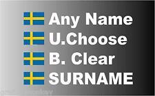 """SMALL"" Swedish Rally Car Name decal sticker graphics"