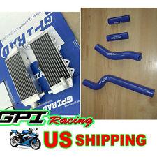 GPI aluminum radiator and silicone hose Yamaha YZ250 2-stroke 2002-2013 11 12